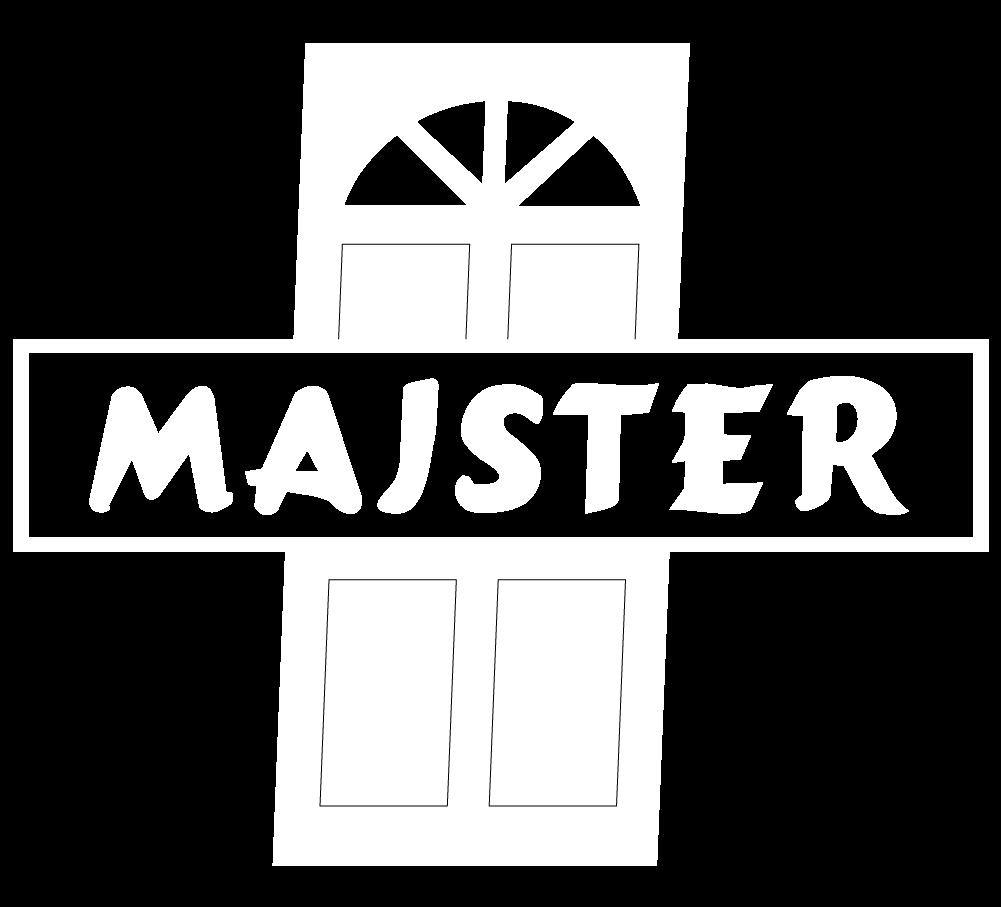 logo majster białe